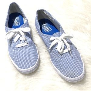 Keds - Pale Blue & White Plaid